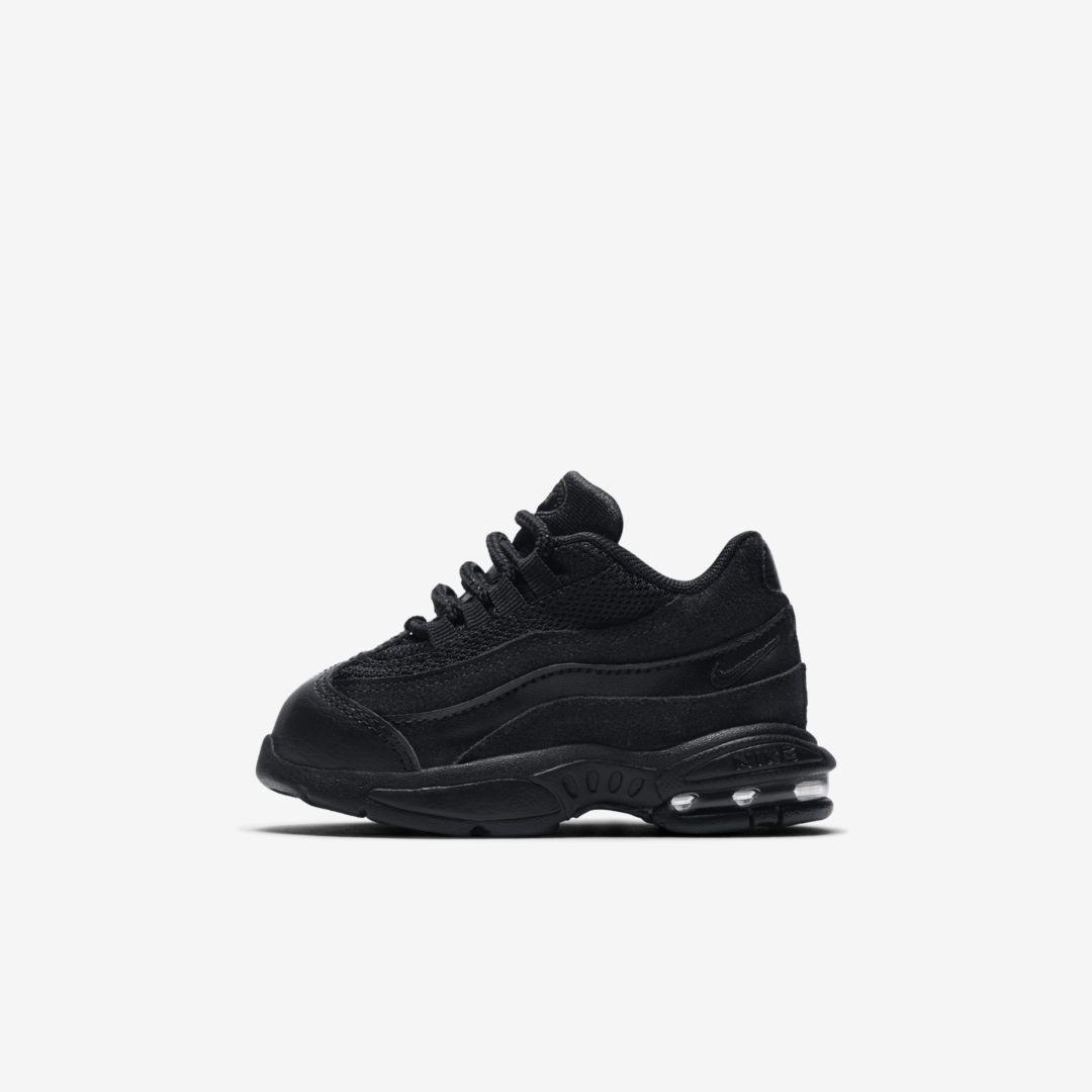 Nike Air Max 95 Infant/Toddler Shoe (Black)   Chaussures de petite ...