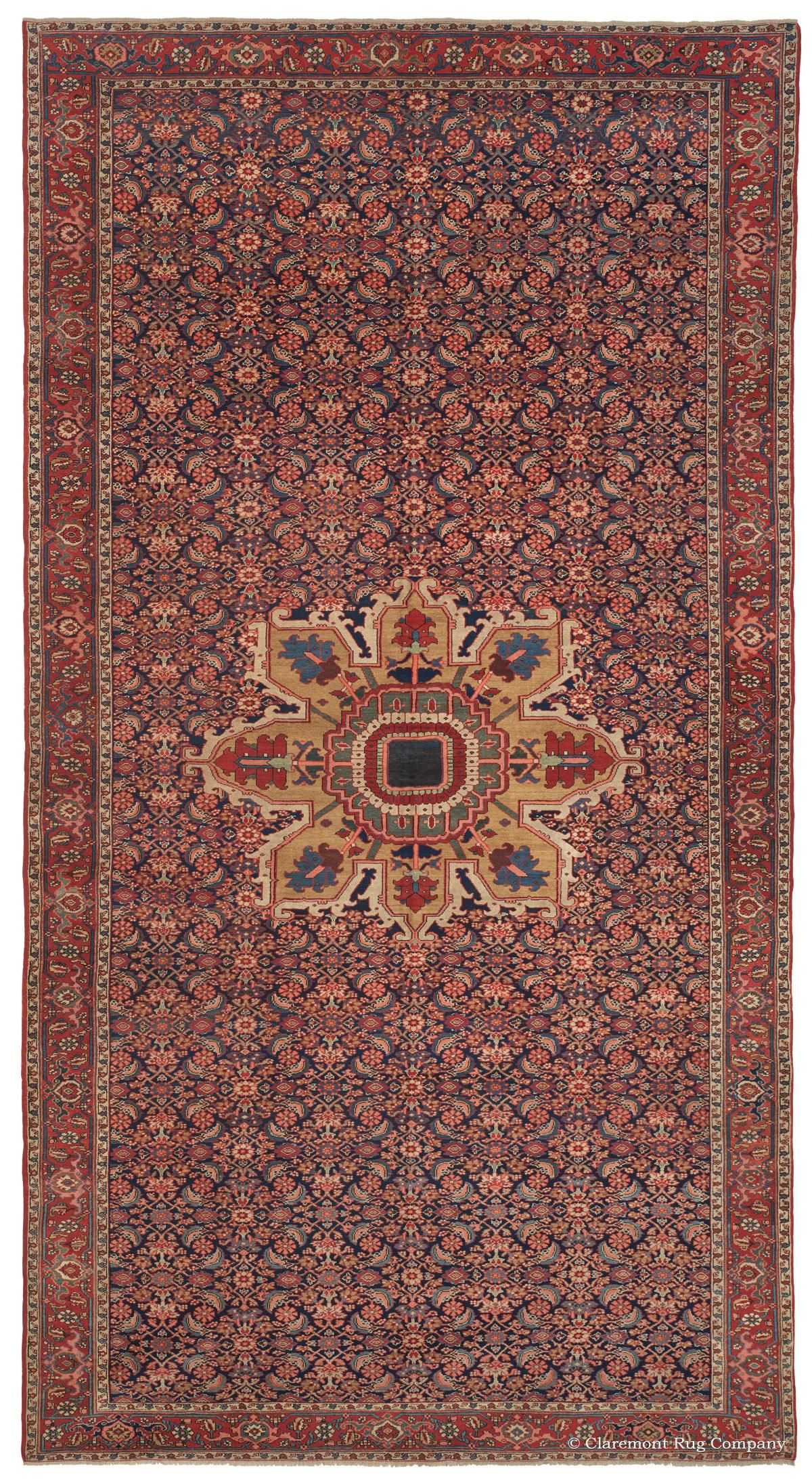 Serapi 9ft 10in X 18ft 5in Late 19th Century This Majestic Oversize Persian Serapi Carpet Uses Its Very S Rugs Vintage Persian Rug Claremont Rug Company