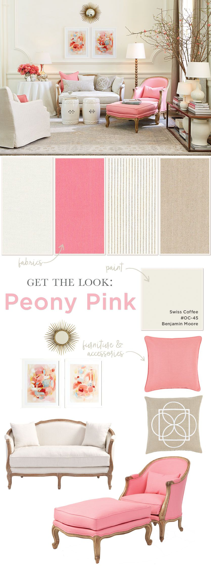Suzanne Kasler\'s Pink Living Room | Peony, Living rooms and Room