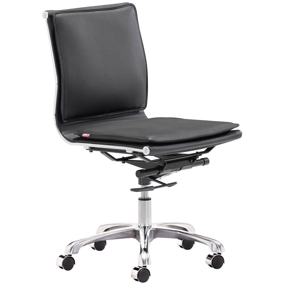 Gustavo Armless Office Chair Black Office Chair Office Chair Cushion Chair