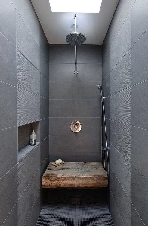 Perfect Space For Shower, Make Waterproof Shelf In Wall .