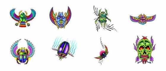 Egyptian Scarab Tattoo Designs