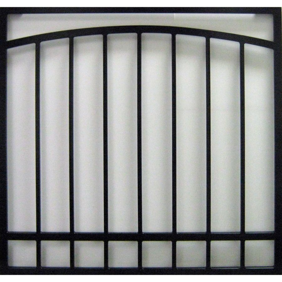 Window Security Bars Lowes >> Gatehouse Arched 30 In Black Arched Window Security Bar In