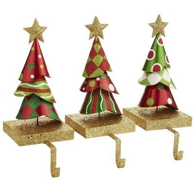 Whimsy Tree Stocking Holder Set Of 3 From Pier One