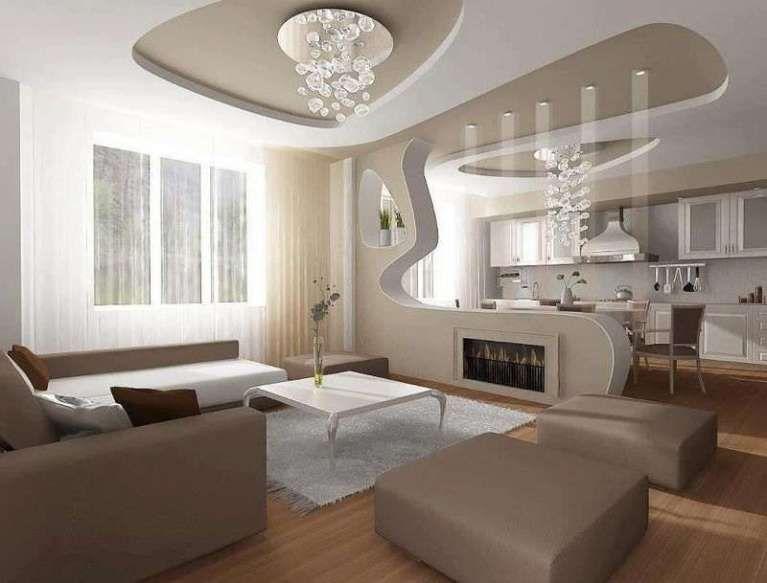 Idee pareti soggiorno in cartongesso | Nuova | False ceiling design ...