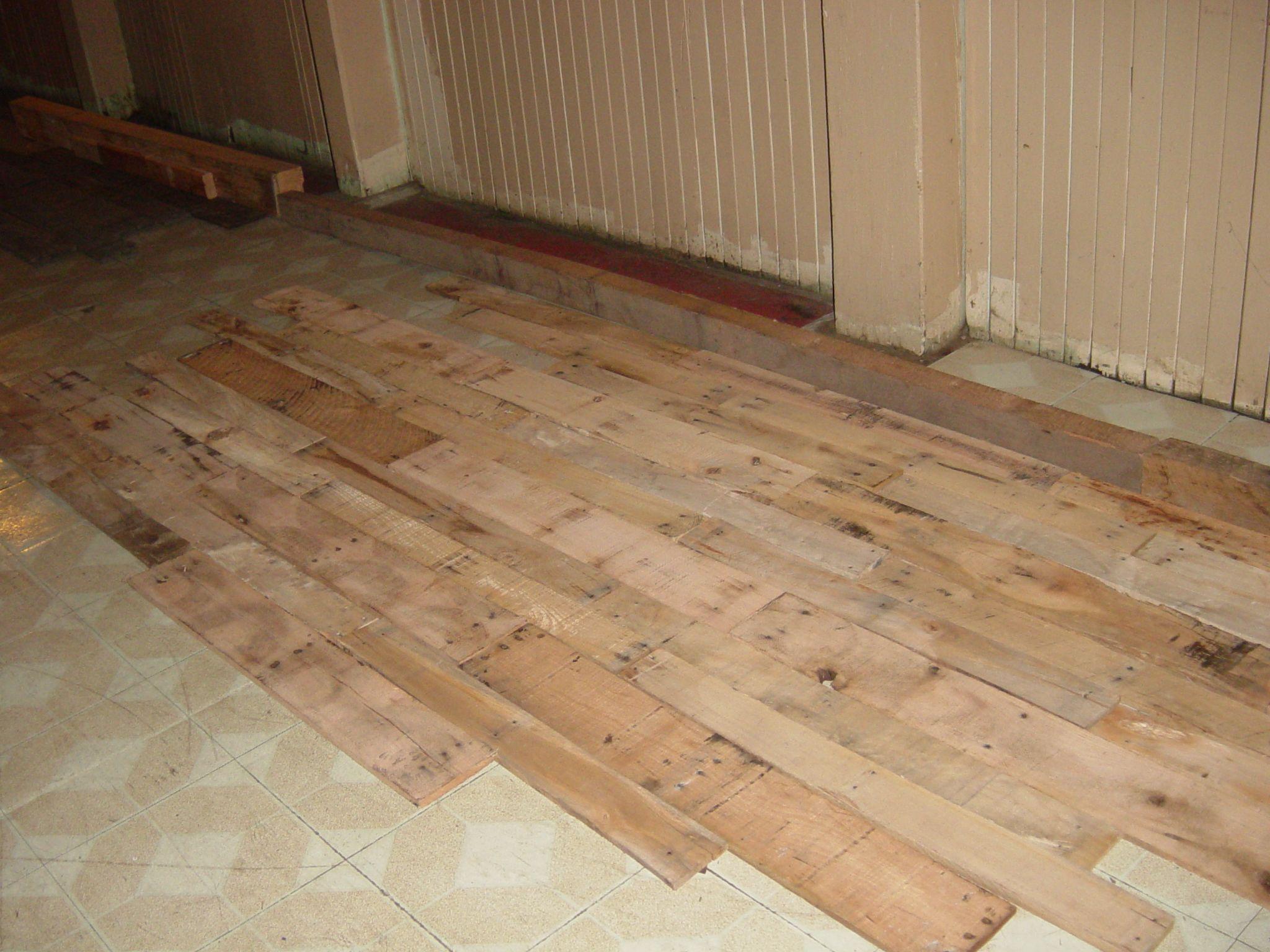 mixed harwood flooring | Pallet floors, Wood pallets ...