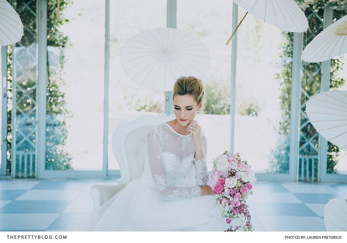 Lace sleeves, like those on this couture wedding gown, are timeless and feminine details that have stolen the hearts of countless brides.   Photographer: Lauren Pretorius Photography   Wedding Dress Designer: Stephen van Eeden   Florist: Epanouir Flower Studio