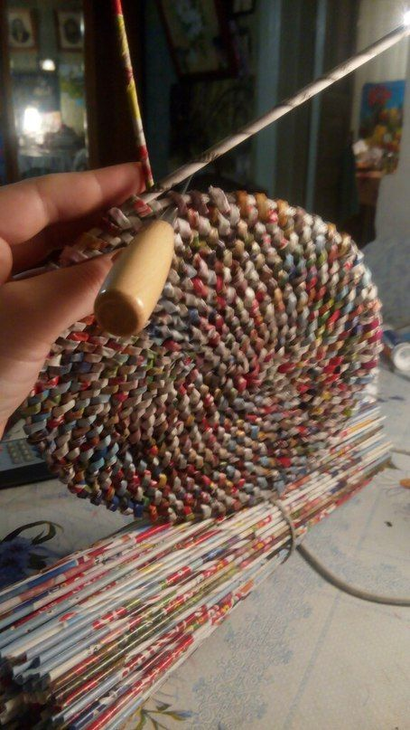 Плетение из газет paper craft pinterest paper paper crafts