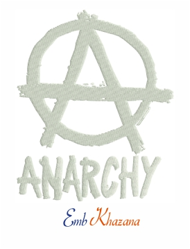 Anarchy Symbol Logo Embroidery Pattern Embroidery Logo Symbol Logo Embroidery Patterns
