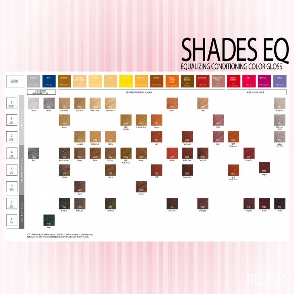 Image For Redken Shades Eq Gloss Color Chart Redken Shades Shades Eq Color Chart Redken Color
