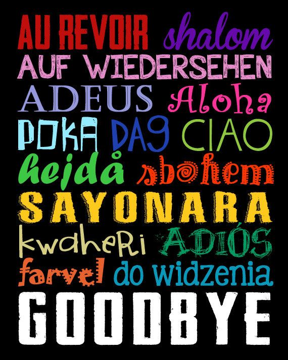 Goodbye Sign. Goodbyes in Different Languages. World ...