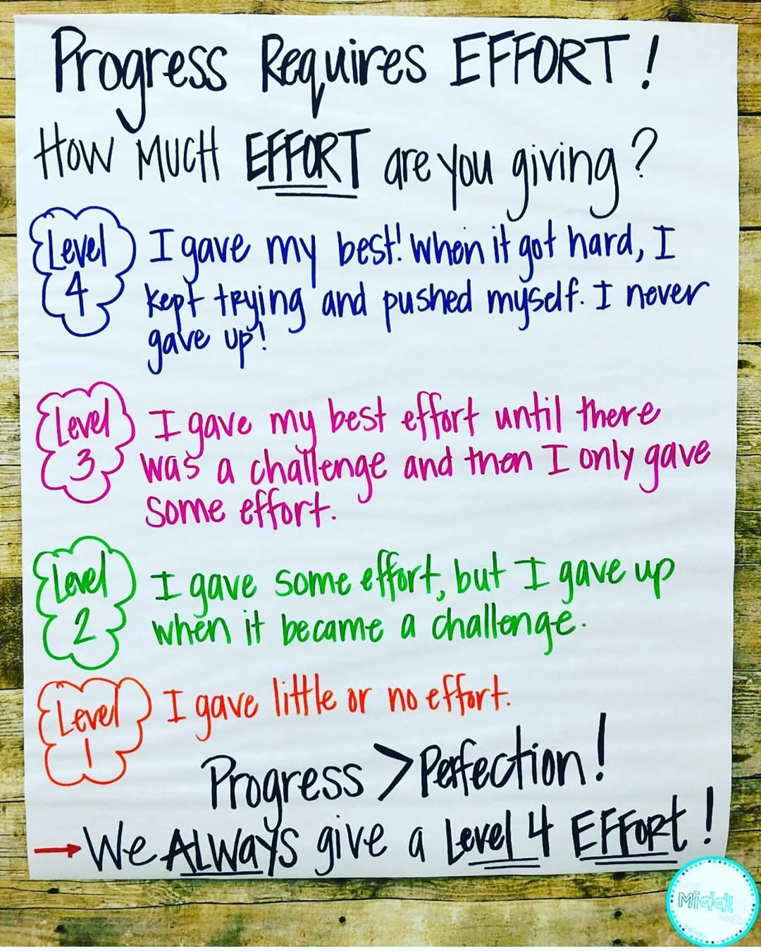 Miss P S Style Megan On Instagram Love This Effort Chart By Making The Middle Matter To Allow Students To D Teaching Middle School Classroom Anchor Charts Expected reading level grade victoria