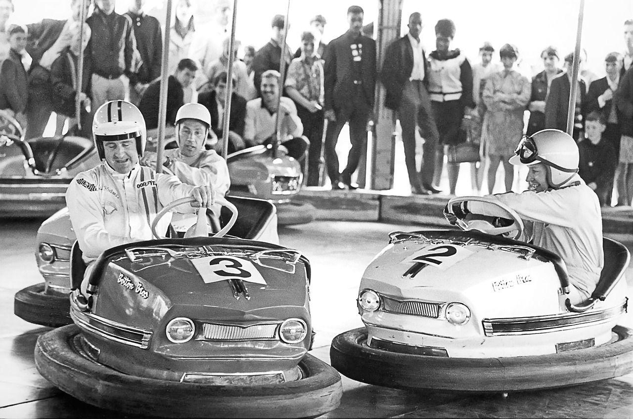 Denny Hulme and John Surtees can't get enough…