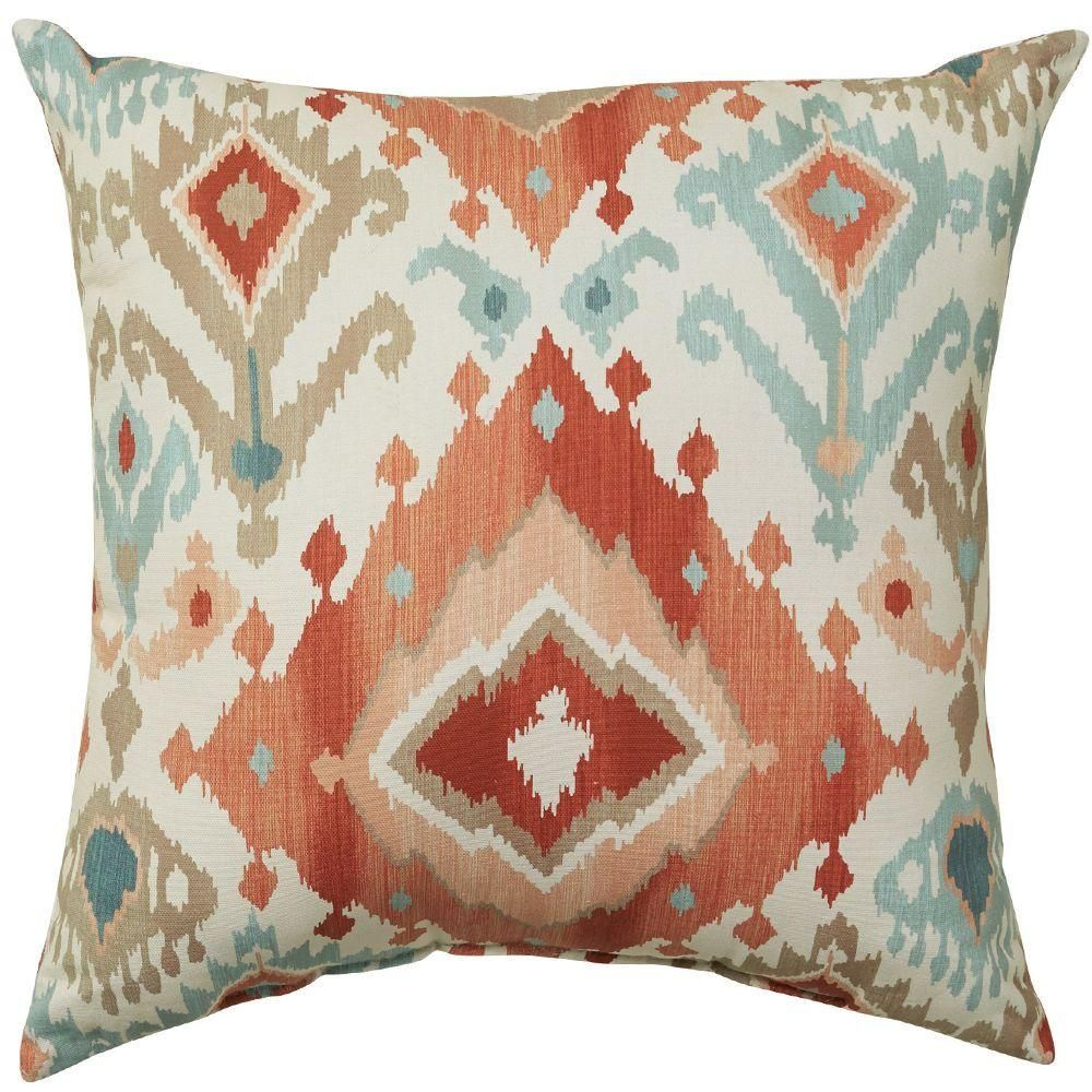 Home Decorators Collection 16 In Alessandro Spiceberry Square Outdoor Throw Pillow
