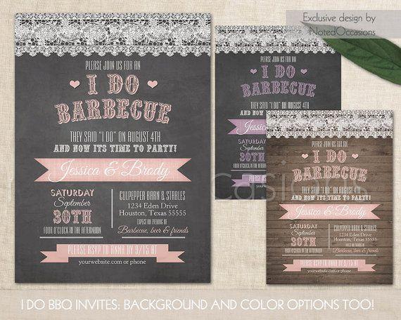 I Do BBQ Wedding Invitation Printable Wedding by NotedOccasions I