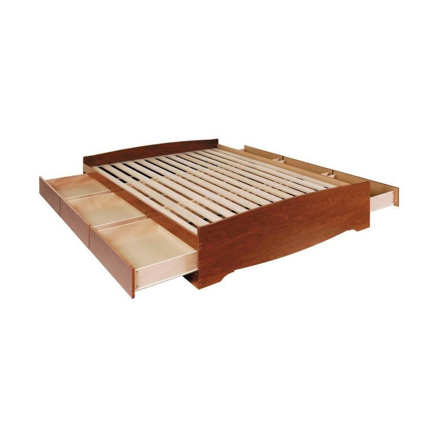 Prepac Mate S Cherry Queen Platform Bed With Storage Cbq 6200 3k