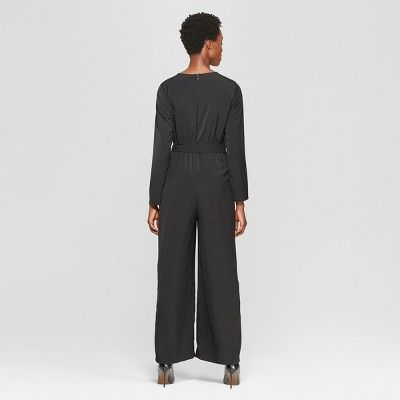 8d7fc3ba99 Women s Long Sleeve Crew Neck Jumpsuit - Who What Wear Black XL ...