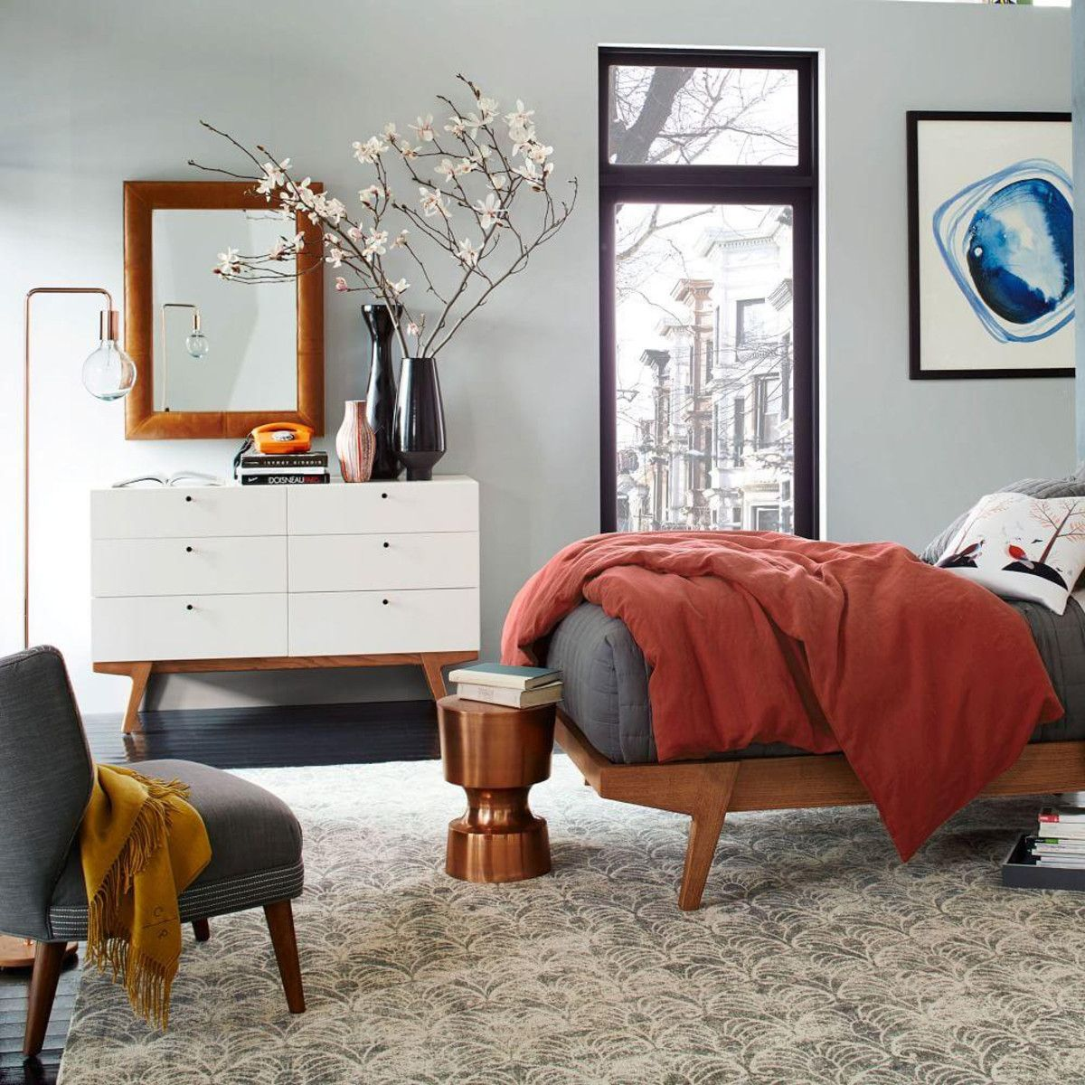 Simple Modern Ideas For Small Living Rooms To Fool The Eyes: Apartment Bedroom Design, Small