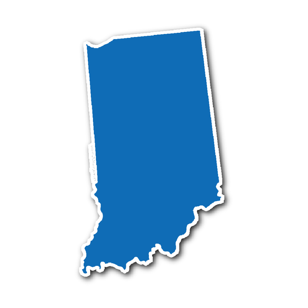 Indiana State Shape Sticker Outline Blue State Shapes Indiana State Indiana