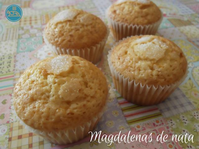 Hoy cocinamos .....: Magdalenas de nata