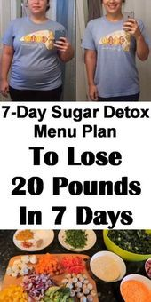 Try this sugar detox meal plan to lose 20 pounds in 7 days. #dietplan #weightlos... - Adrianna Laurent #sugardetoxplan