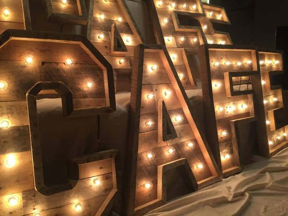 48 Lighted Marquee Letters Rustic Wood Marquee Light Up Letters Lighted Letters Marquee Letters Event Decor New Years Eve Decor In 2020 Light Letters Marquee Letters Light Up Letters