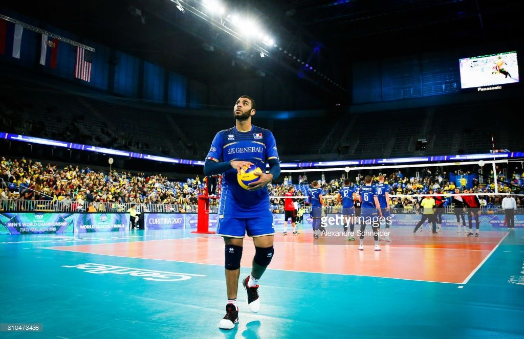 Earvin Ngapeth Of France In Action During The Semifinal Match Between Esportes Volei Curitiba