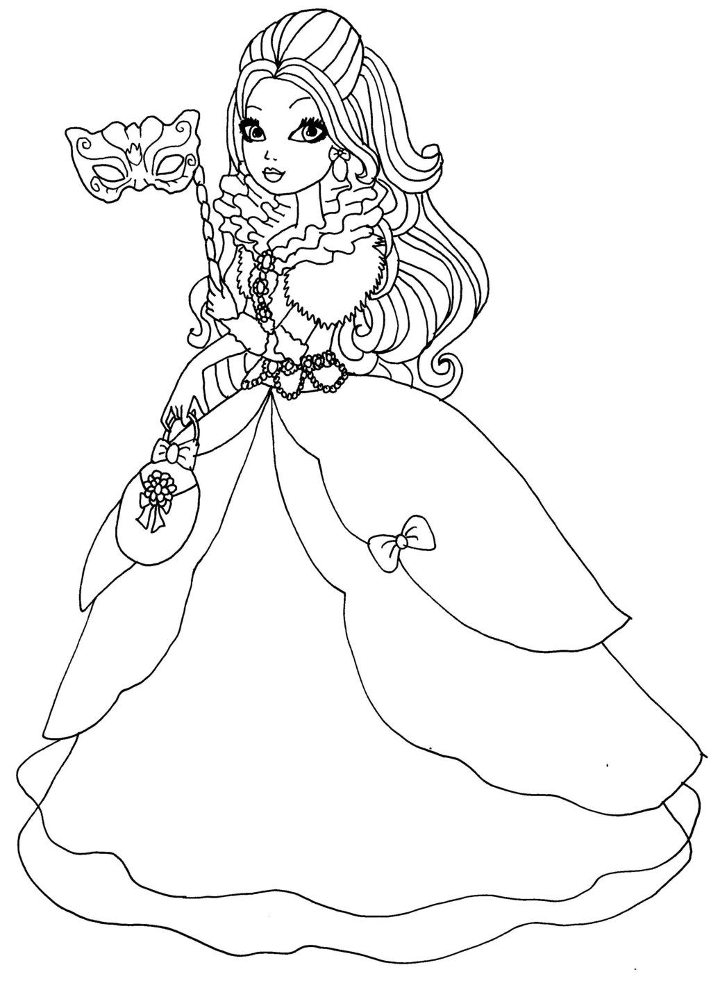 Coloring pages apple - Ever After High Apple White Coloring Pages Apple White Thronecoming