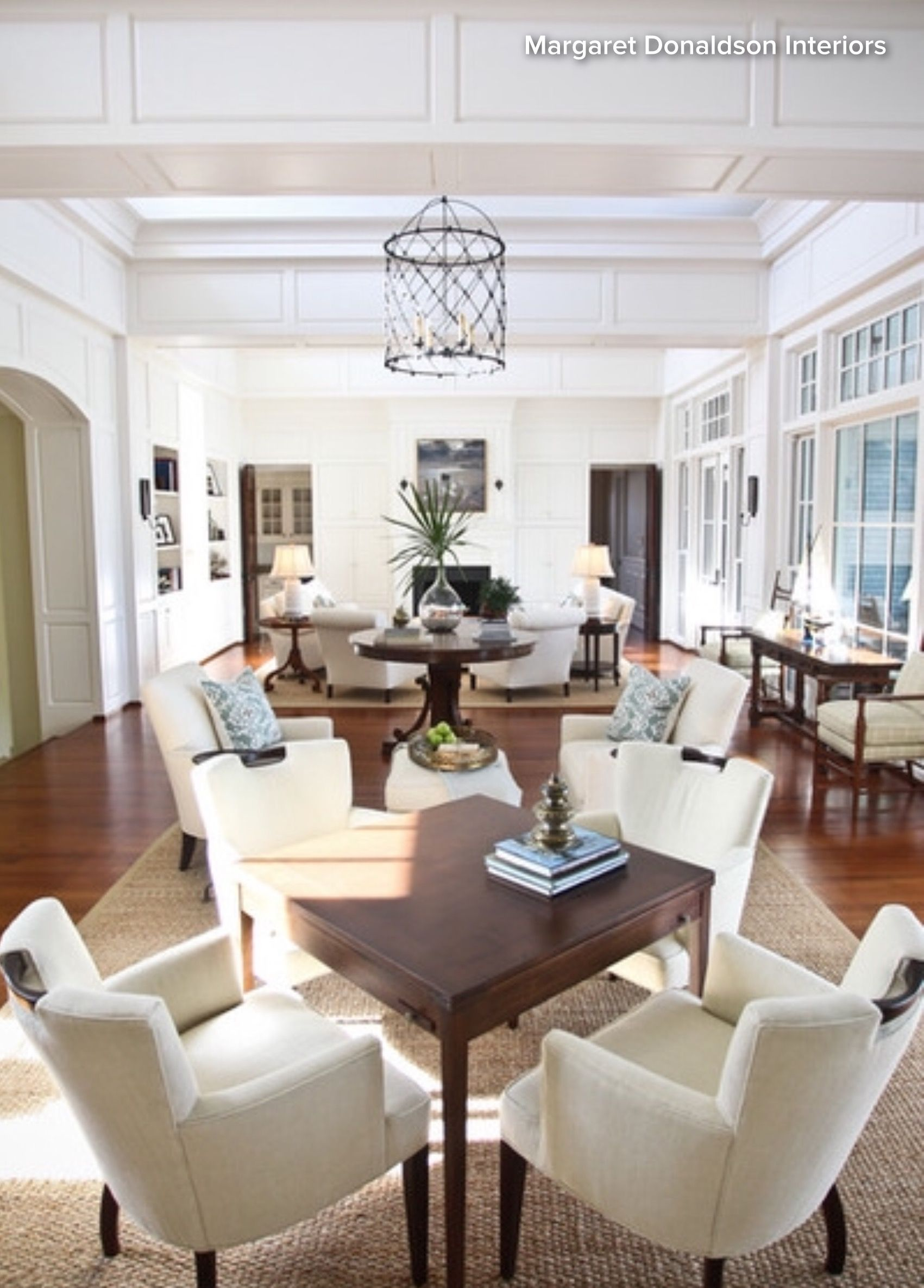 Tips for Styling Large Living Rooms: 8. Designate zones. Identify