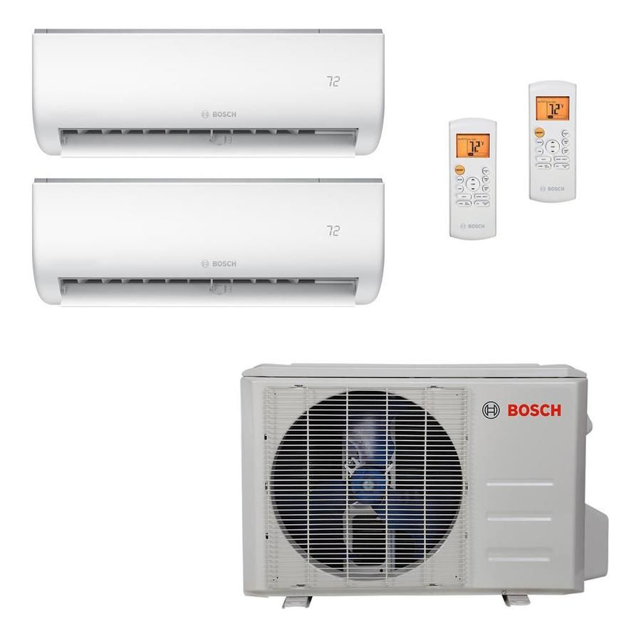 Bosch Bosch High Efficiency Ultra Quiet Mini Split Air Conditioner Cooling System 18k Btu 230v With 2 Air Handlers 8733 In 2020 Air Conditioner With Heater Split System Air Conditioner Window Air Conditioner