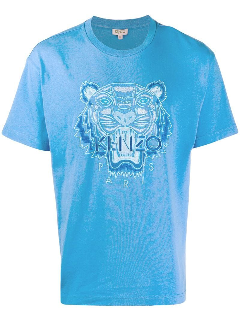 Kenzo embroidered tiger T shirt Blue | Tiger t shirt