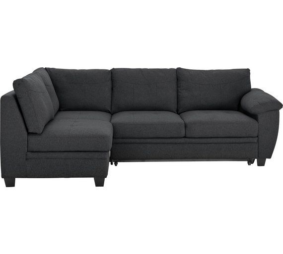 Buy Argos Home Fernando Left Corner Fabric Sofa Bed Charcoal Sofa Beds With Images Fabric Sofa Bed Corner Sofa Bed Sofa Bed