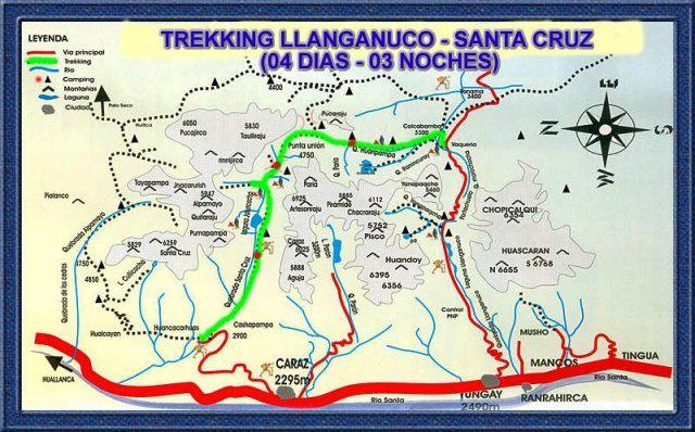 Mapas de Trekking Huaraz
