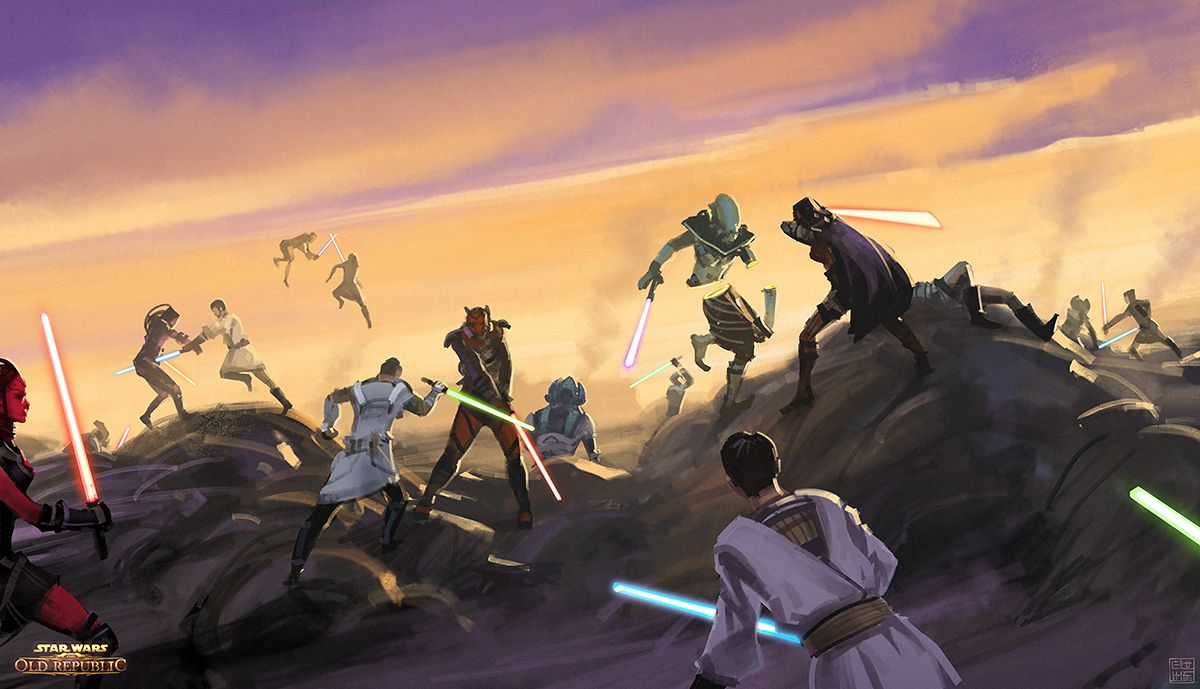 Star Wars The Old Republic Jedi Sith Battle Star Wars The Old Star Wars Pictures Star Wars Art