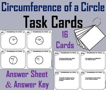 Circumference Of A Circle Task Cards With Images Word Problems