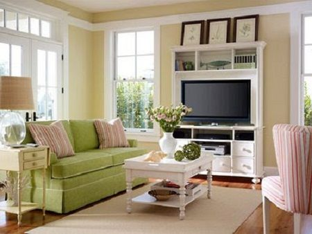 White French Country Farmhouse Living Room Design