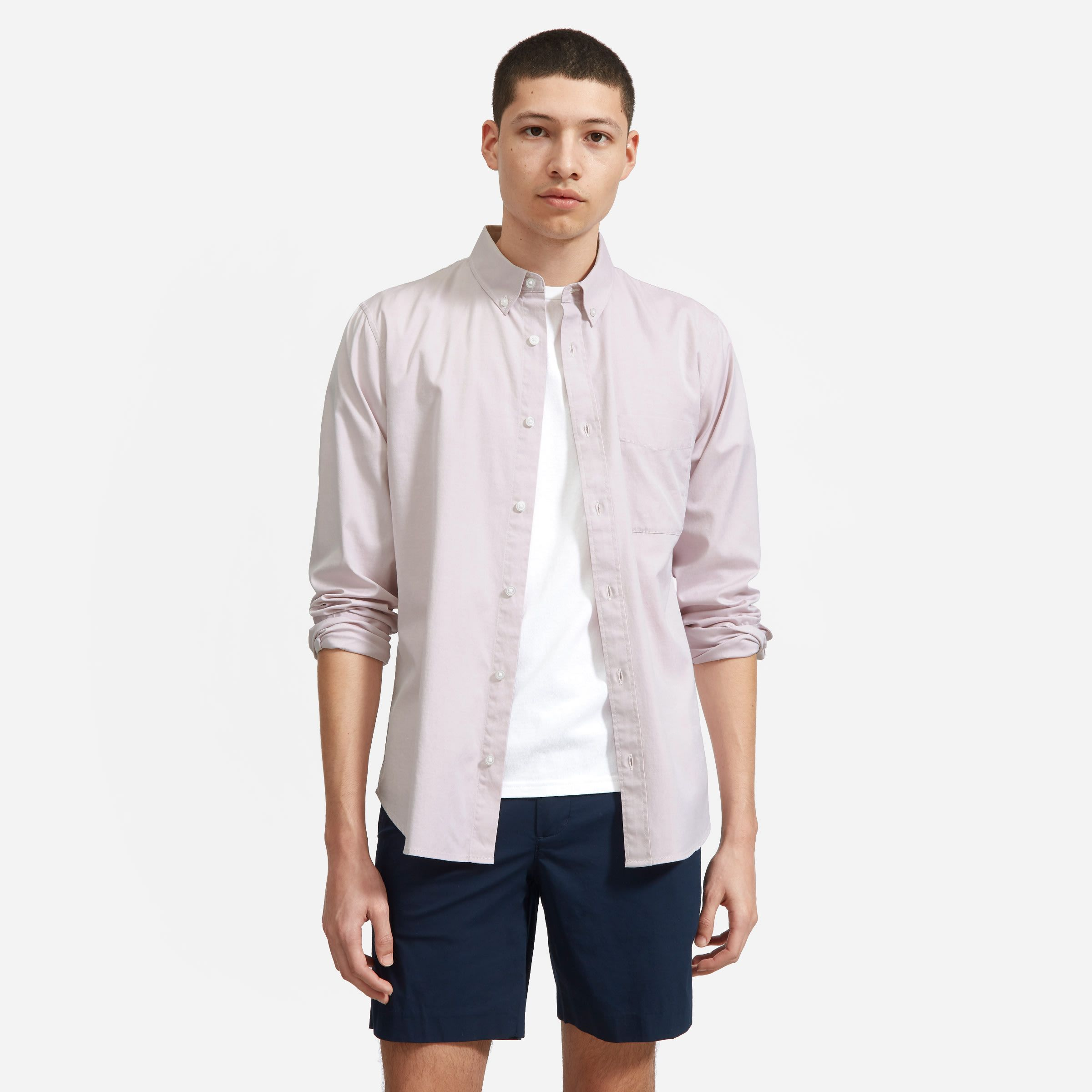 Men's Air Oxford Shirt by Everlane in Pale Woodrose