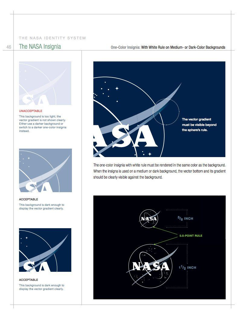 NASA Style Guide Logo and Brand Identity Manual Style