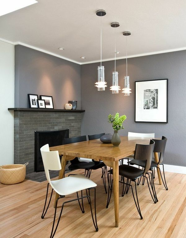 wandfarbe grau + weiß esszimmer dining room Pinterest Room - wandfarbe grau