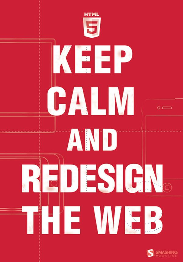 Keep calm and #redesign the #web
