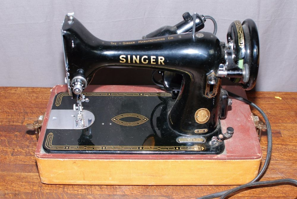 40 Singer 40K Sewing Machine With Original Box Tested Working Awesome 1953 Singer Sewing Machine