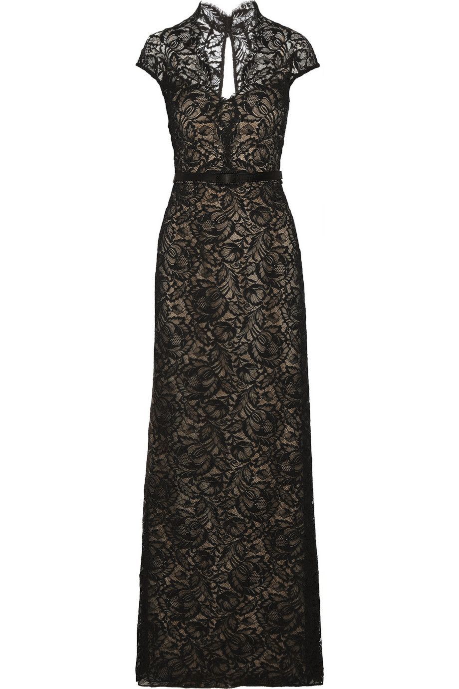 Mikael aghalbelted lace gownfront shopping pinterest designer