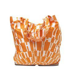 04fc5b4fdb69 Rare Hermes Orange H Shopper Tote Collapsible Zip Handbag - sale