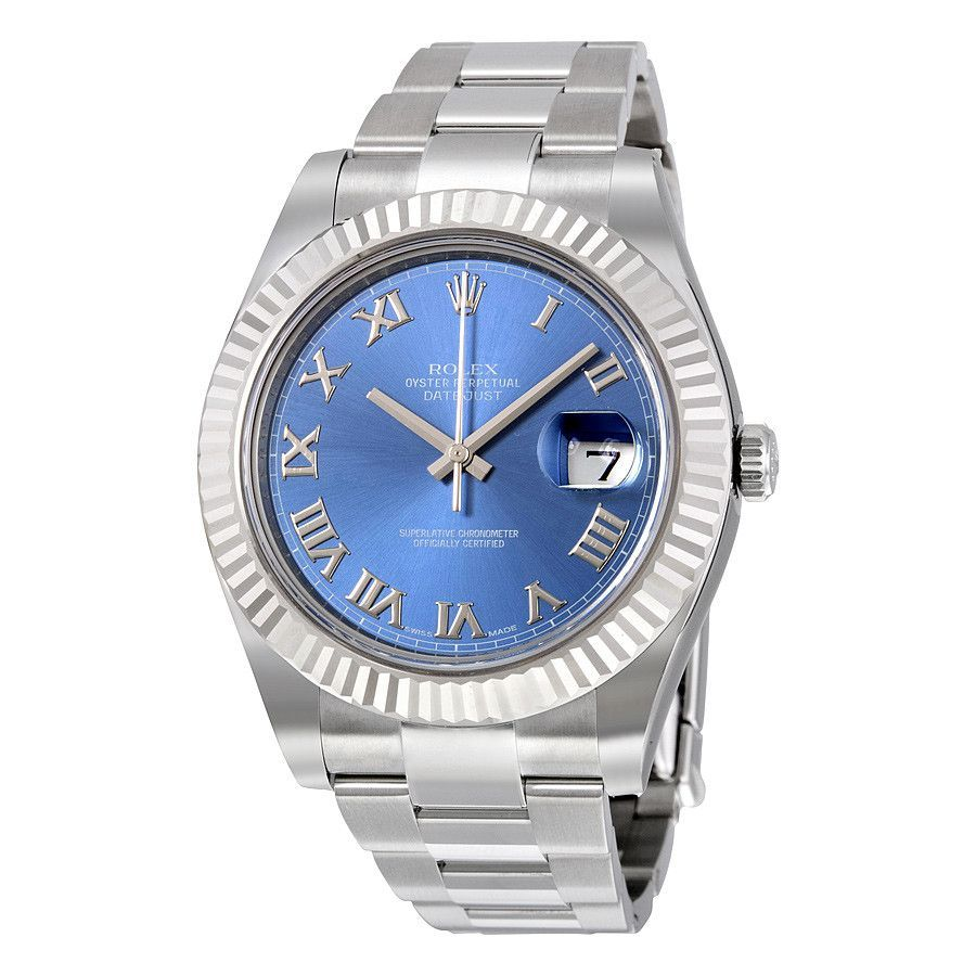 Rolex Datejust II Stainless Steel Blue Dial Watch 116334BLRO