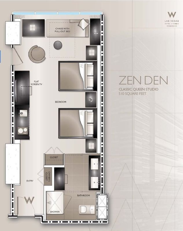 Hotel Guest Room Design: Typical W Hotel Guestroom Plans - Google Search