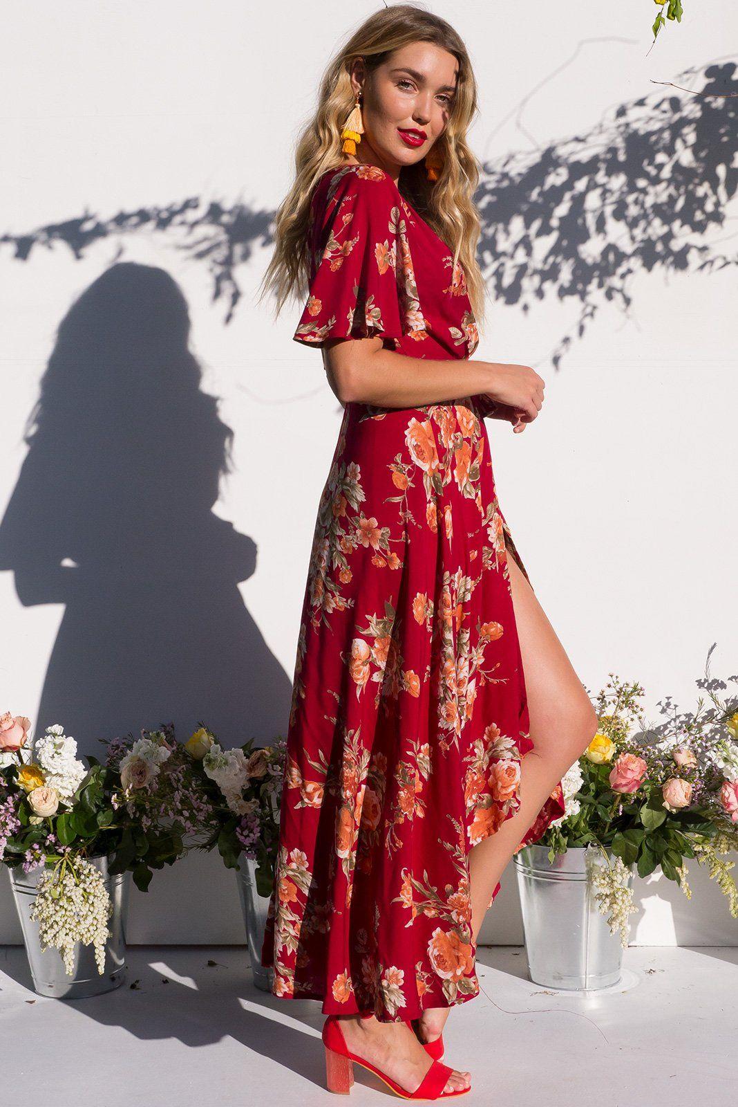 91d0b165431 Floral Long Sleeve Maxi Dress Australia - Gomes Weine AG