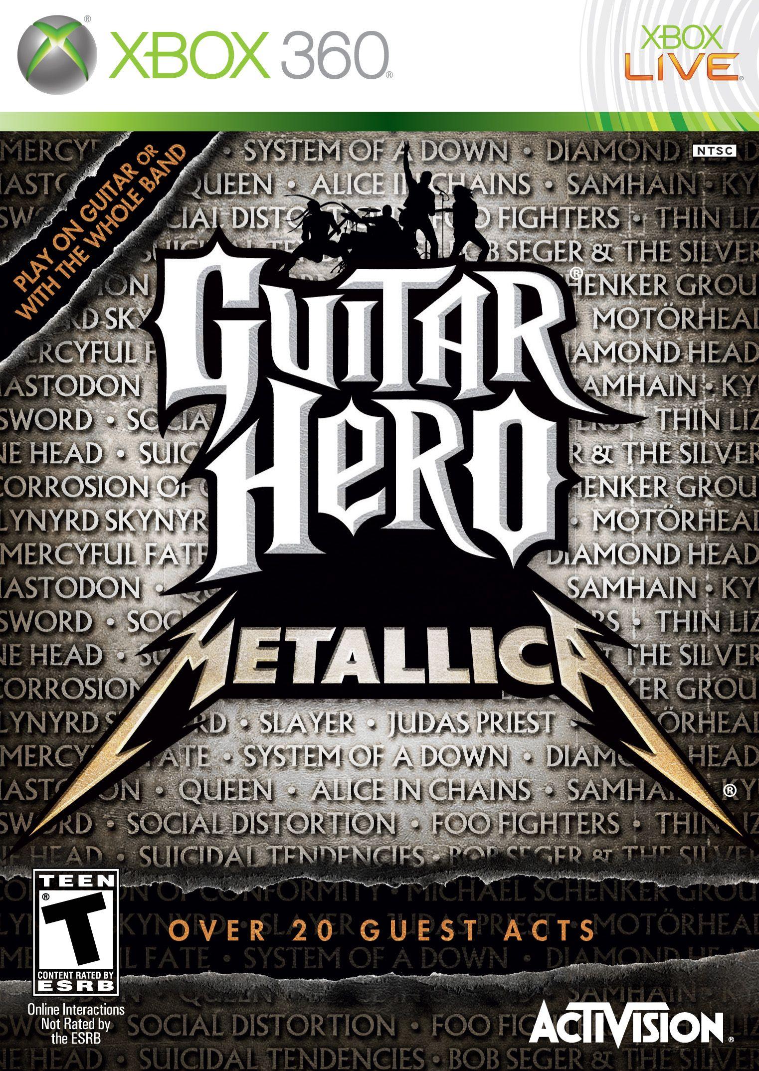 Guitar Hero Metallica With Images Guitar Hero Metallica Metallica Song