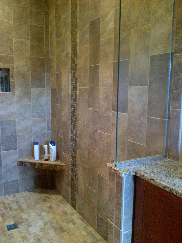 Shower Tile Vertical Brick Set Design By Rowan Childs Of Nonn 39 S Design Showplace Bathroom