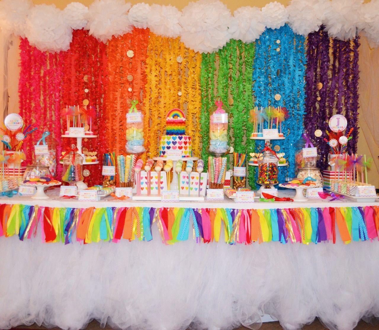 Sweet Simplicity Bakery Rainbow Themed Dessert Candy Table