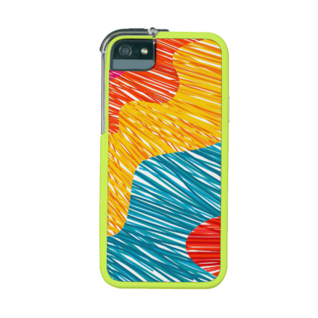 Abtract modern color waves iPhone 5 case